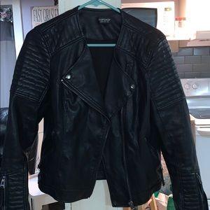 Top Shop faux leather Jacket sz8
